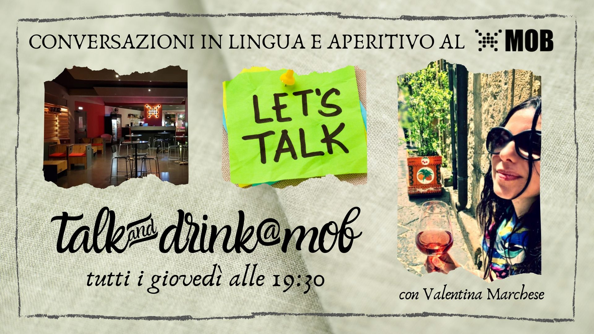 7 NOVEMBRE – Talk & Drink @mob