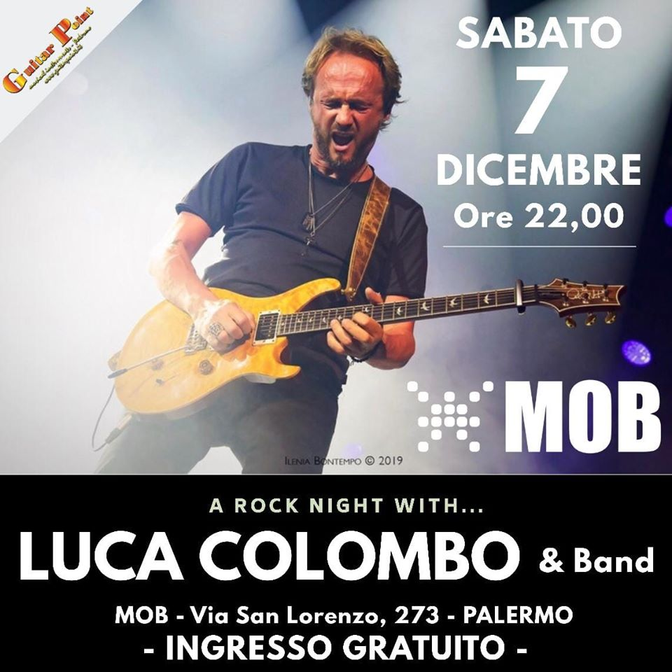 7 DICEMBRE – LUCA COLOMBO & band live