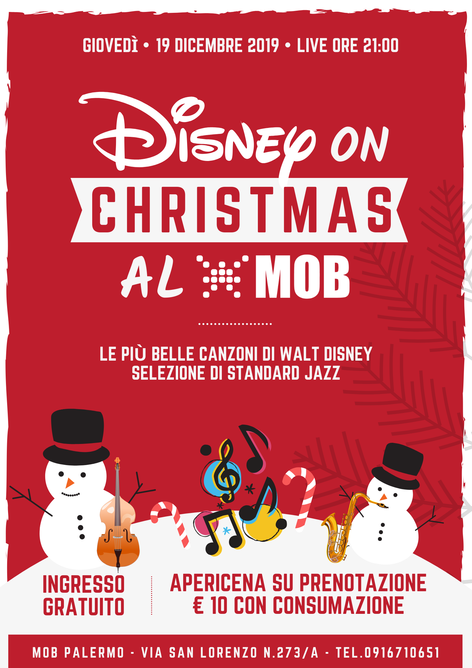 19 DICEMBRE – Disney on Christmas al MOB